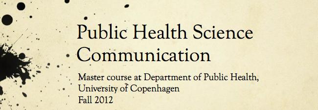 Public health science communication